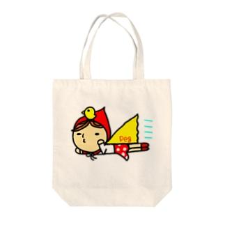 びゅ~ん赤ずきん Tote bags