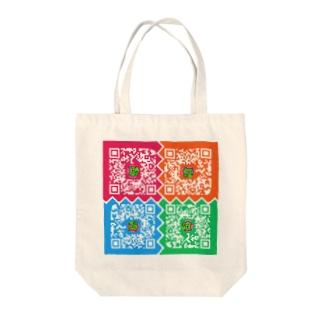股間で日本を盛り上げ隊たいちょーのQRコード Tote bags