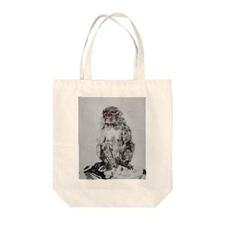 瞑想ニホンザル2018 Tote bags