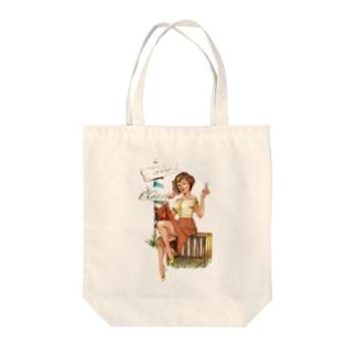 サロンガール Tote bags