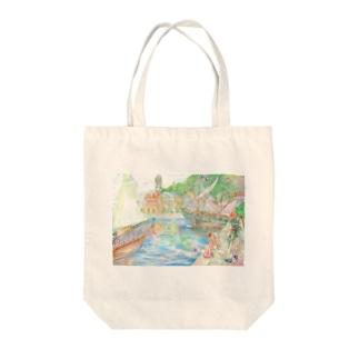 ルナポートタウン Tote bags