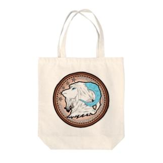 山羊ハーミット/空色 Tote bags