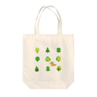 woods and dragon Tote bags