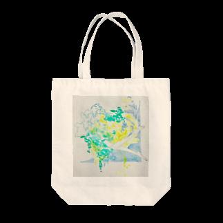 小柚の夏の日の水と泳ぐ Tote bags