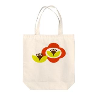 レトロフラワーシリーズ Tote bags