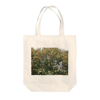 光景 sight740 キンモクセイ 金木犀 花 FLOWERS 壁紙 Tote bags
