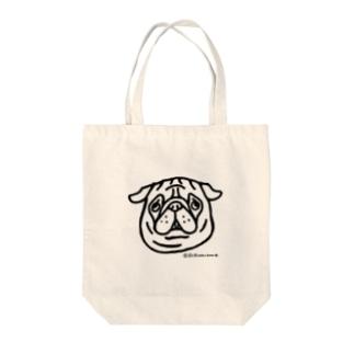パグちゃん Tote bags