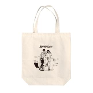 じゃ、夏なんで Tote bags
