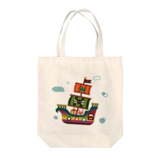 飛行船の旅 Tote bags