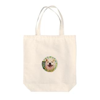 豆柴ビーン丸ワッペン Tote bags