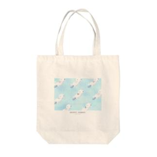 tanaka model Tote bags