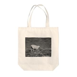 平原と羊 Tote bags
