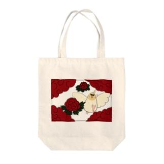 花札「牡丹とオカメ」 トートバッグ