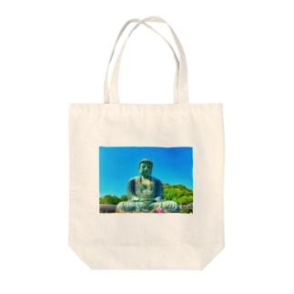 大仏様 Tote bags