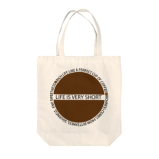 LIFE IS VERY SHORT Tote bags
