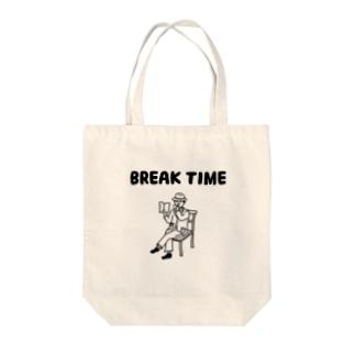 BREAK TIME Tote bags