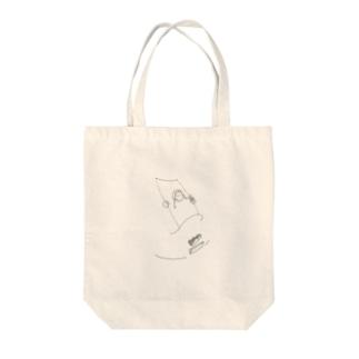 ブランコガール Tote bags