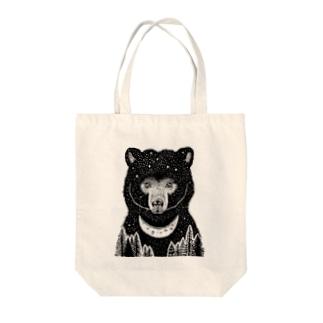 HOLY BLACKBEAR Tote bags