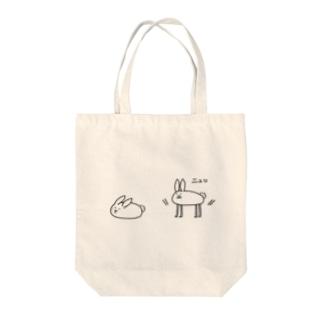 ゆきうさぎ Tote bags