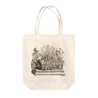 胎児の骨格のジオラマ - Getty Search Gateway Tote bags
