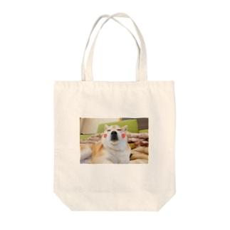 豆柴ビーンのほっぺ Tote bags