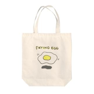 フライングめだまやき教 Tote bags