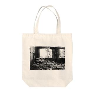 廃墟 -湖上の発電所- Tote bags