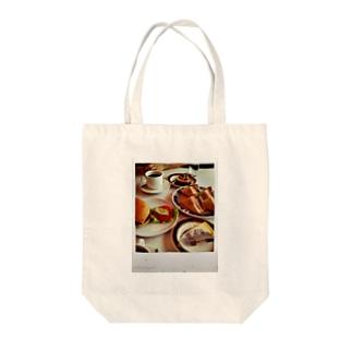 ある日の昼飯 Tote bags