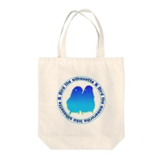 マメルリハインコシルエット Tote bags