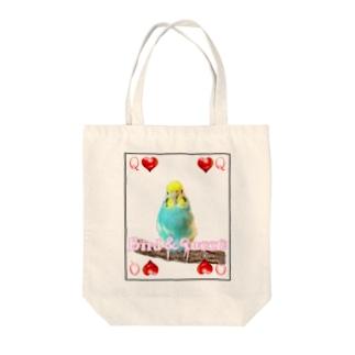 セキセイインコトランプ Tote bags