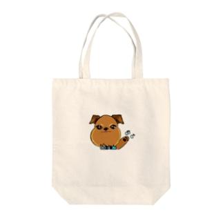 蘭丸goods(ブリュッセルグリフォン) Tote bags