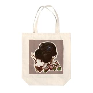 兎ガスマスク Tote bags