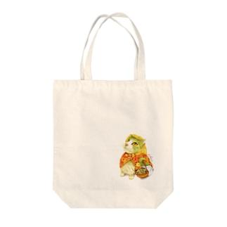 マッチ売りのにゃんこ(ワンポイント) Tote bags