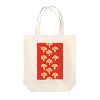 cauliflower レッド Tote bags