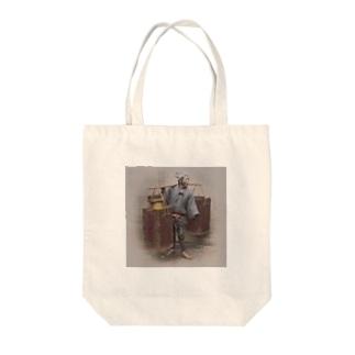 甘酒売り Tote bags