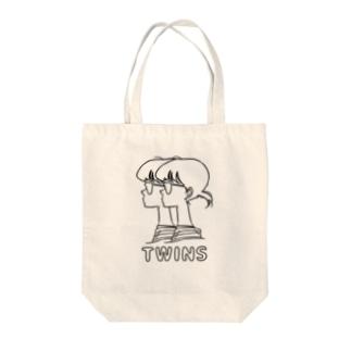 ふた子さん Tote bags