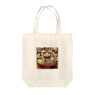 うどんやさんのラーメン大好き Tote bags