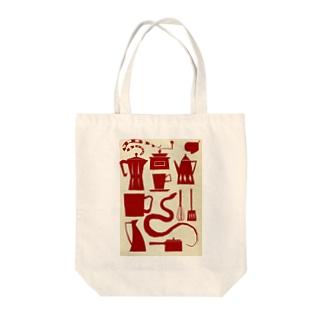 キッチンコーン Tote bags