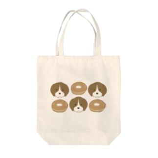 ベーグル犬 Tote bags
