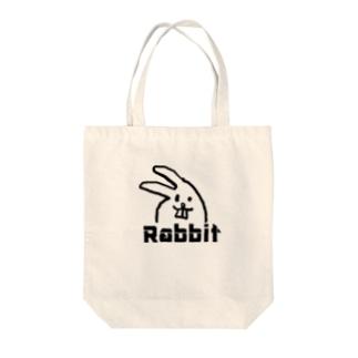 ウサギのウサゴロウ Tote bags