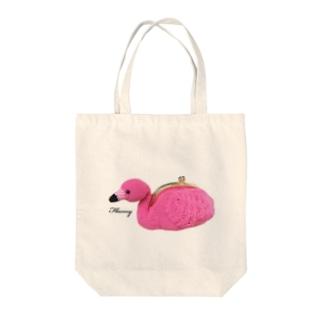 フラミーちゃん Tote bags