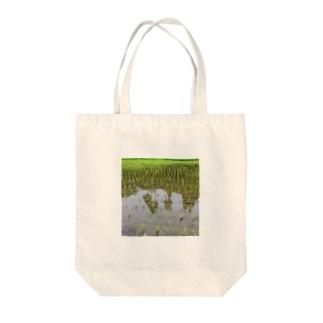 たんぼ Tote bags