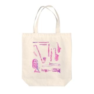 gakki-pink Tote bags