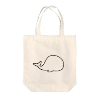 くじら Tote bags