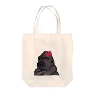 ゴリラ子 Tote bags