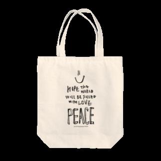 eri's Art love & peace Factoryのeri's Art 01 Tote bags