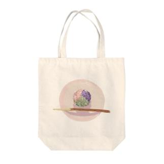 """和菓子錦玉 """"あじさい"""" Tote bags"""