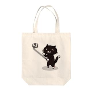 自撮り猫(KURO) トートバッグ