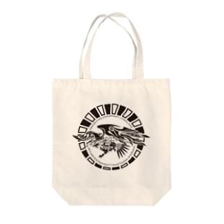 鷹 Tote bags