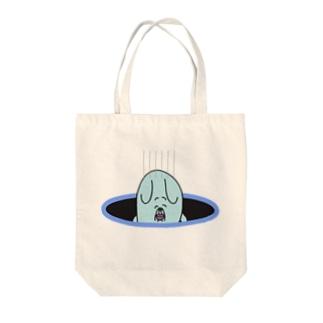 イヌマン穴 Tote bags